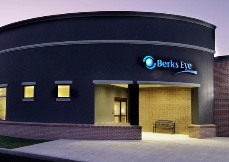 Berks Eye care glaucoma center building in Wyomissing